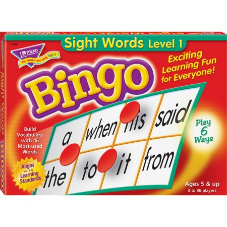 Trend, TEPT6064, Sight Words Bingo Game, 1 Each, Multi](Halloween Bingo Word List)
