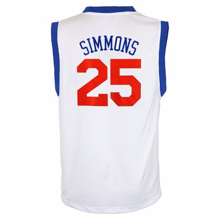 low priced 0e5f5 30bc6 Ben Simmons Philadelphia 76ers NBA Adidas Youth White Official Home Replica  Basketball Jersey
