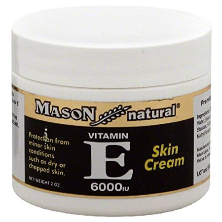 Rub 2 Ounce Cream - Mason Vitamins E 6000 IU Cream, 2 Ounce, for Protection from Minor Skin Conditions Such as Dry or Chapped Skin, Deep-Moisturizing Cream, Use as Moisturizer Make-Up Base or Night Cream