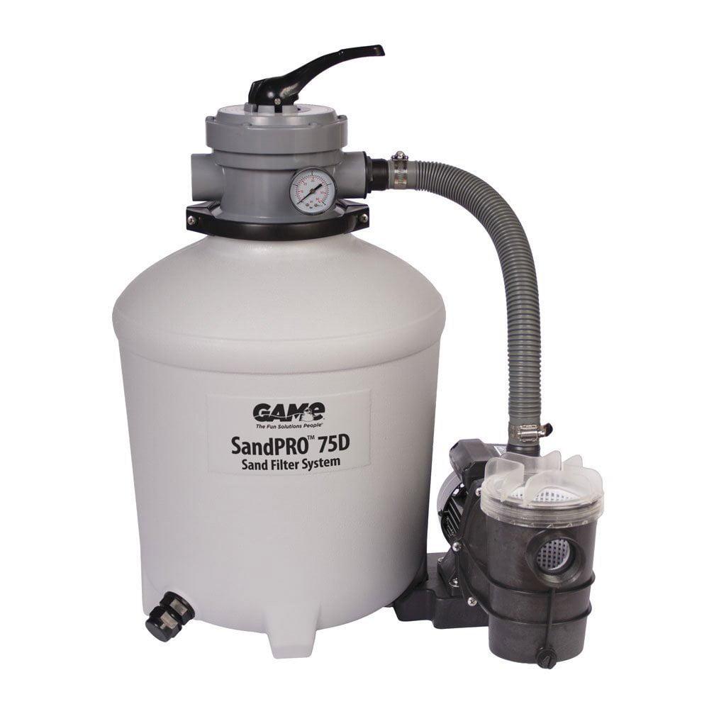 GAME SandPRO 75D 3/4 HP Above Ground Pool Sand Filter Pump Filter System 4711