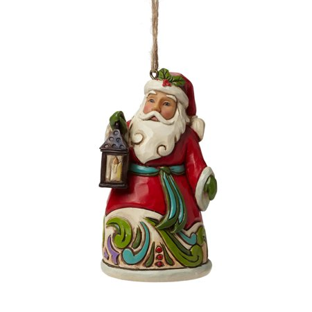 Heartwood Creek Christmas 4047815 Mini Santa With Lantern Hanging Ornament