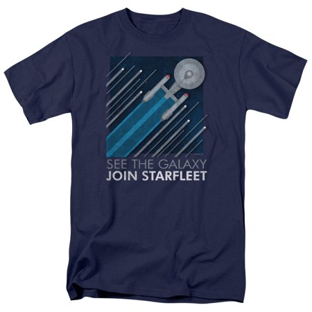 Star Trek Starfleet Recruitment Poster Mens Short Sleeve - Star Trek Blue Shirt Character