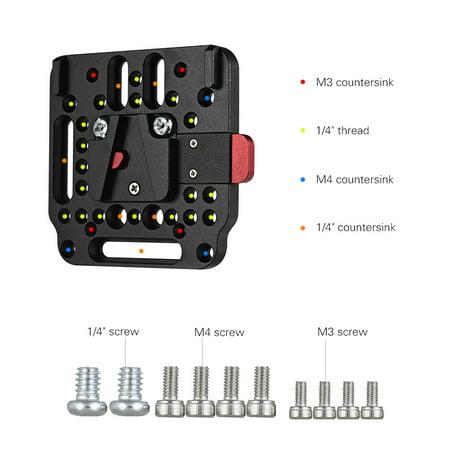 V-Lock Assembly Kit Female V-Dock Male V-Lock Quick Release Plate for V-Mount Battery - image 2 de 5