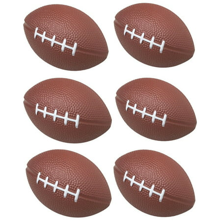 Casino Themed Party Decorations (GIFTEXPRESS 1 Dozen Foam Mini Football Stress Balls, Mini Sport Balls, Superbowl Decoration Party Favor, Football Themed Party Supplies and Giveaways)