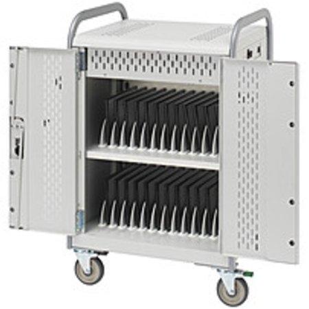 Bretford MDMTAB36BP-CTAL 36 Unit Tablet Cart - Steel - Concrete Powder, Aluminum