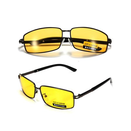 Yellow Polarized Sunglasses Night Vision Driving Cycling Riding Glasses Eyewear Sports Goggles
