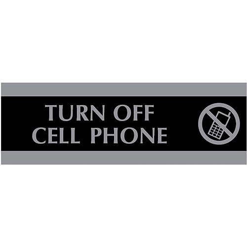 U.S. Stamp and Sign Century Turn Off Cell Phone Sign