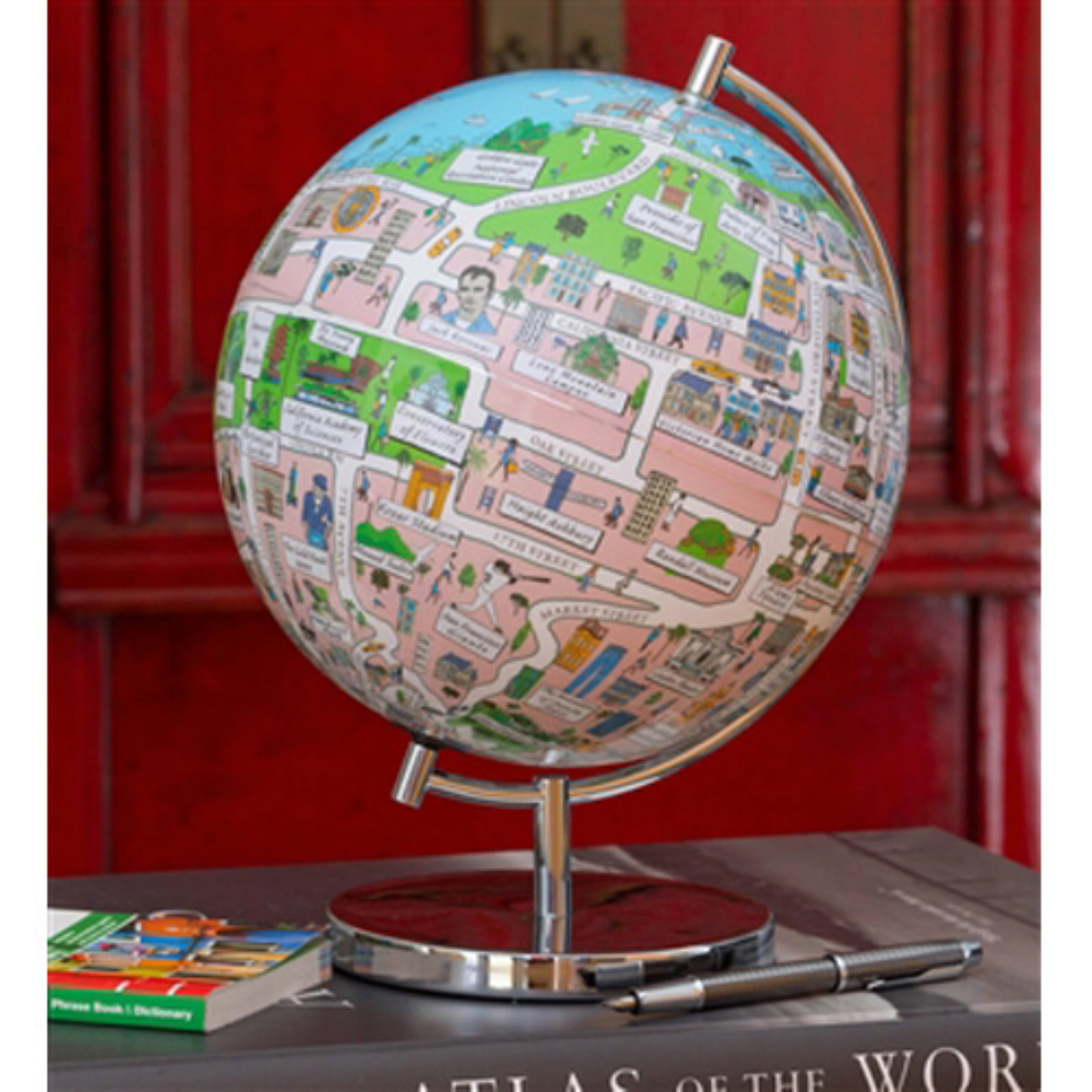 Waypoint Geographic San Francisco Illuminated 9 in. Globee