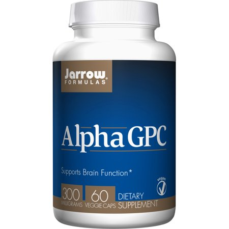 Jarrow Formulas Alpha GPC, Supports Brain Function, 300mg, 60 Veggie (Alpha Energizing Formula)