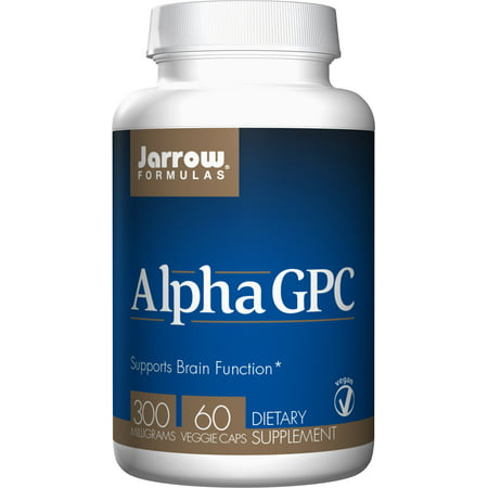 Jarrow Formulas Alpha GPC, Supports Brain Function, 300mg, 60 Veggie -