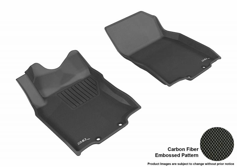 Kagu Rubber 3D MAXpider Second Row Custom Fit All-Weather Floor Mat for Select Nissan Rogue Models Black
