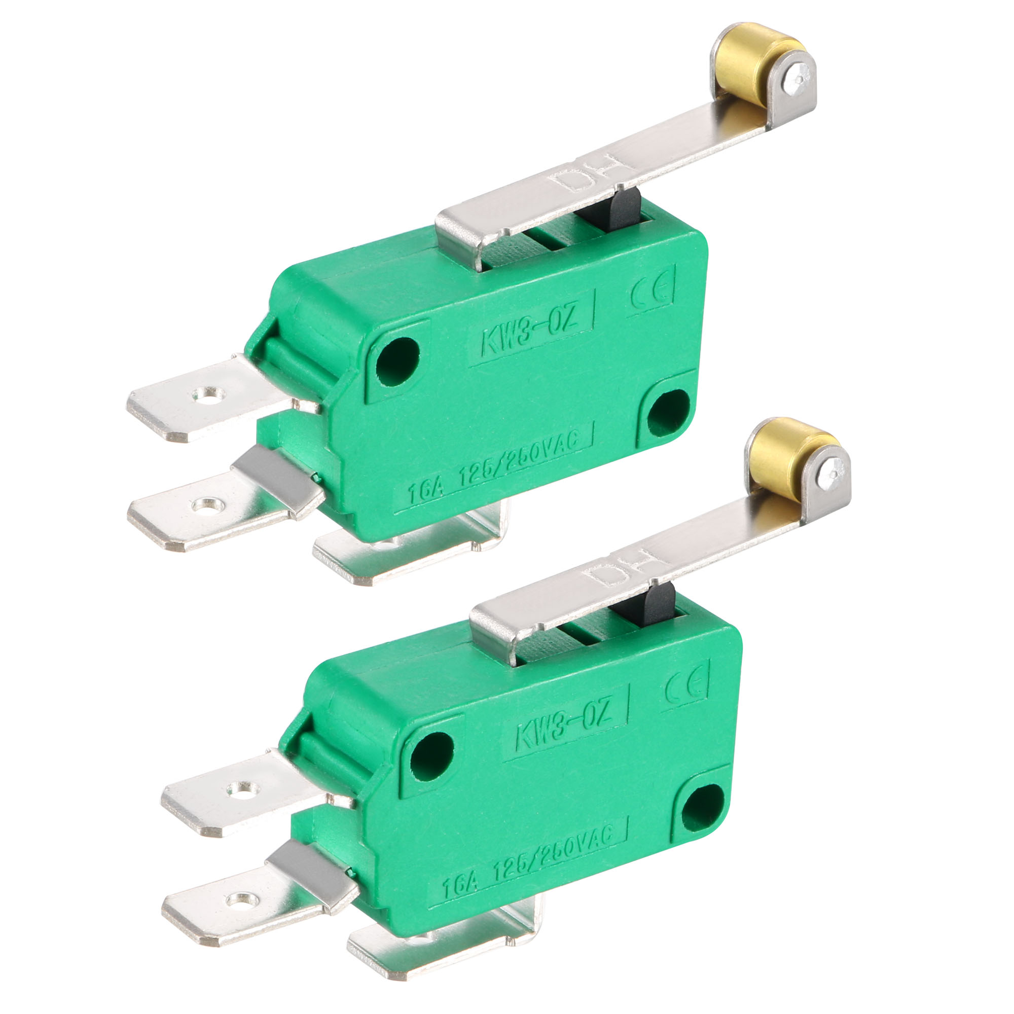 2PCS KW3-OZ 16A 125/250VAC SPDT NO NC Roller Lever Type Micro Limit Switches - image 4 of 4