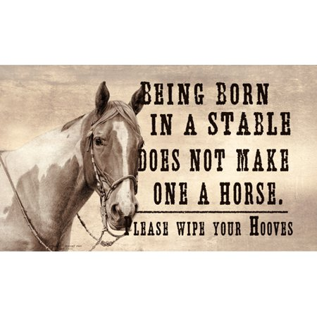 Born In A Stable Does Not Make One A Horse [3 Pack] of Vinyl Decal Stickers | 5