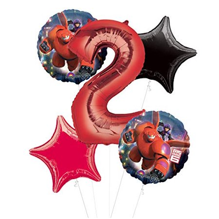 Mayflower Products Big Hero 6 Party Supplies 2nd Birthday Balloon Bouquet Decorations - Big Top Party Rentals