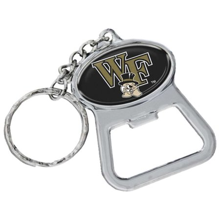Wake Forest Demon Deacons Metal Key Chain And Bottle Opener W/domed Insert