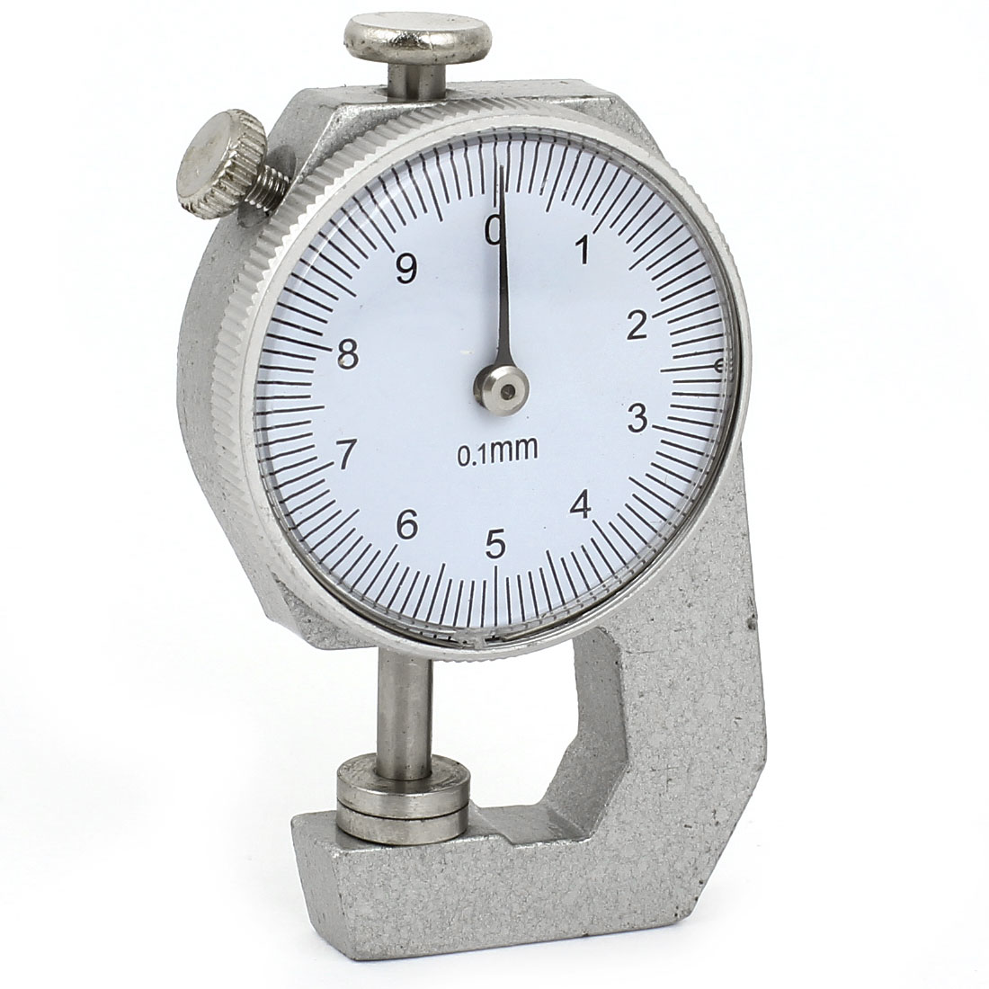Round Shaped Dial 0-10mm 0.1mm Accuracy Thickness Gauge Measuring Hand Tool