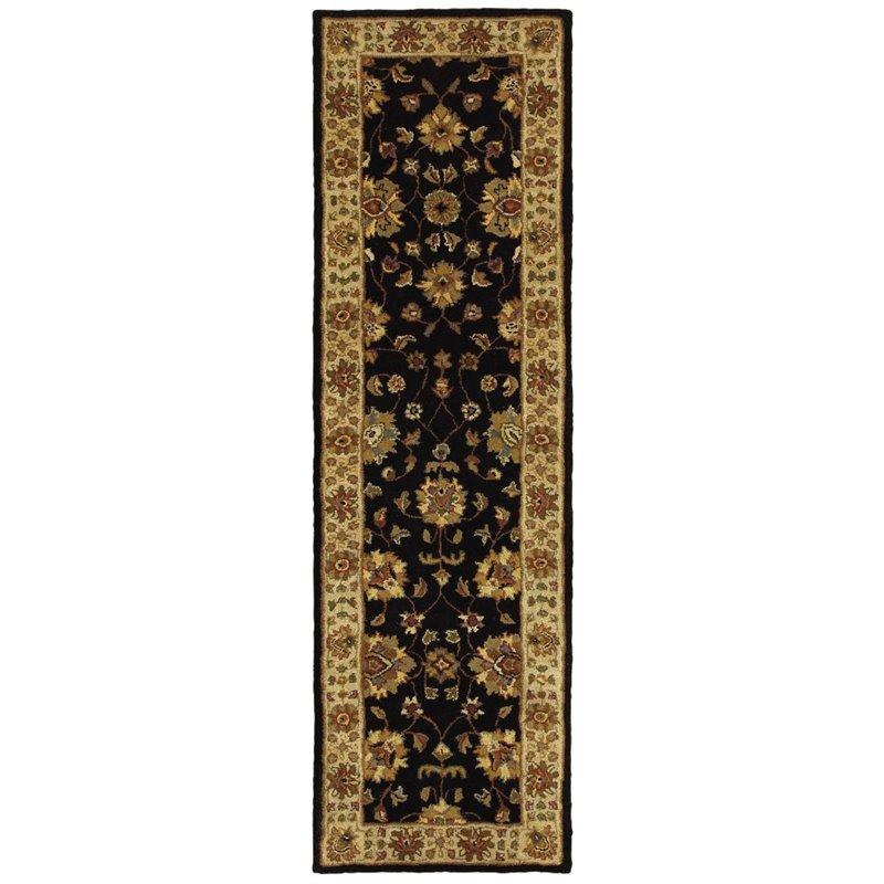 """Oriental Weavers Windsor 2'3"""" x 8' Hand Tufted Runner Rug in Black"""