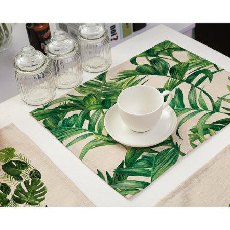 Bowl Fork Placemat Mat + Flatware Set Decoration Home Party Christmas Dining Table Mats Plate Tea Heat Insulation (Bow Dining Table)
