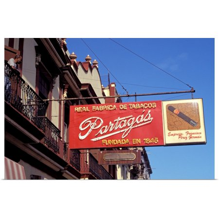 Great BIG Canvas | Rolled Sergio Pitamitz Poster Print entitled Caribbean, Cuba, Havana. Cigar shop sign