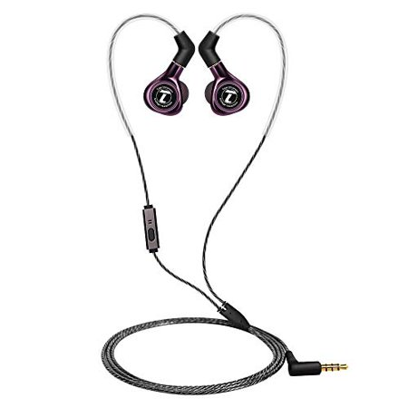Soutege S300 Dynamic and Balanced Armature Hybrid in-Ear Monitor Headphones with MMCX Detachable Cables, Noise-Isolating - Balanced Armature