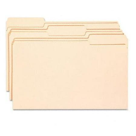 Smead 15338 Antimicrobial File Folders- 1/3 Cut- Top Tab- Legal- Manila- 100/Box