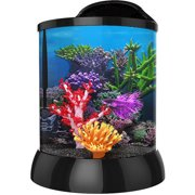Aqua Terra 1 Gallon with 3D Coral Background, Black
