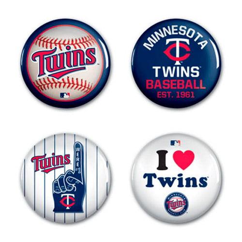 Minnesota Twins WinCraft 4-Pack Button Set - No Size
