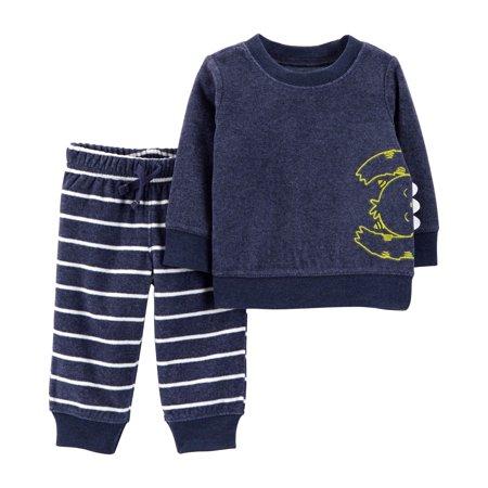 Long Sleeve Fleece Top & Jogger Pants, 2-Piece Outfit Set (Toddler Boys)
