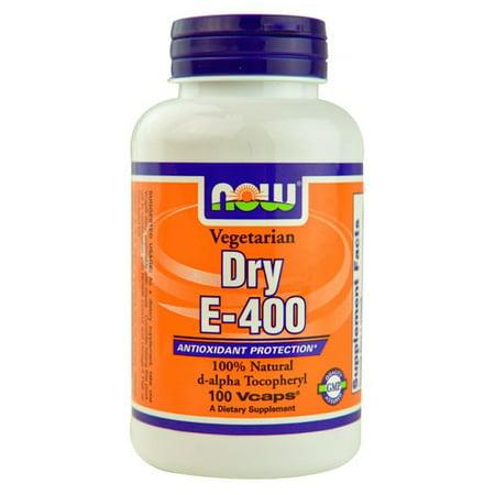 NOW Les aliments végétariens à sec E-400 Protection Antioxydant, 100 Ct