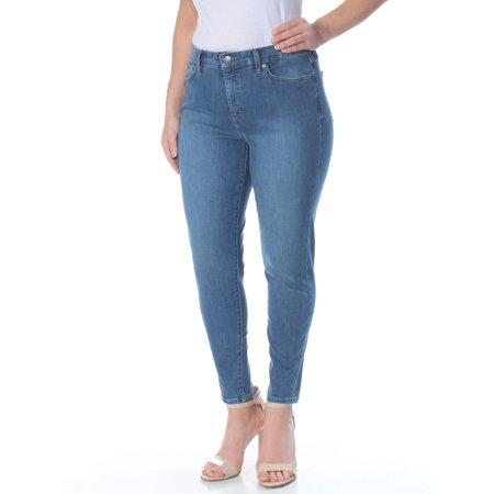 RALPH LAUREN Womens Blue Cropped Skinny Jeans  Size: 14