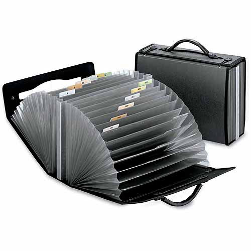 Esselte Pendaflex Document Carry Case, Poly, 26 pockets, Smoke