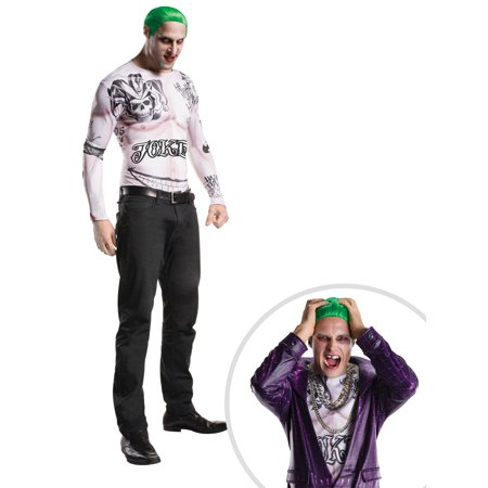 Adult Suicide Squad Joker Kit Costume and Suicide Squad the Joker Teeth - The Joker Suit For Sale