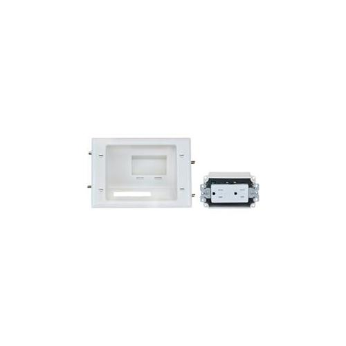 Datacomm Electronics 45-0071-WH Recessed Lowith voltage Mid-size Plate