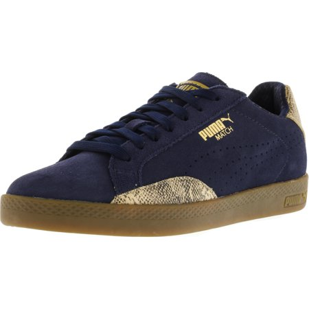 Puma Women's Match Lo S Snake Peacoat / Gold Ankle-High Suede Fashion Sneaker -