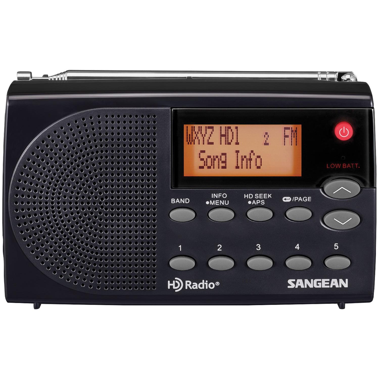 Sangean Portable Radio AM/FM-Stereo HD RadioTM, Black