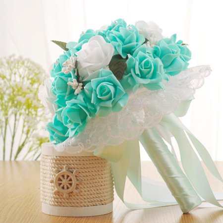 Dzt1968 crystal roses bridesmaid wedding bouquet bridal artificial dzt1968 crystal roses bridesmaid wedding bouquet bridal artificial silk flowers mightylinksfo