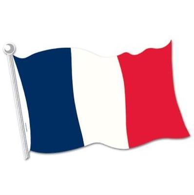 French Flag Cutout, 5PK