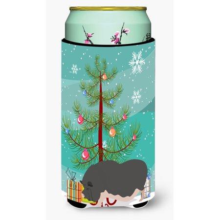 Vietnamese Pot-Bellied Pig Christmas Tall Boy Beverage Insulator Hugger BB9308TBC