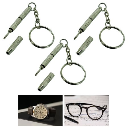 - 3X Precision Eyeglass Screwdriver Mini Keychain Sunglass Eyewear Repair Kit Tool