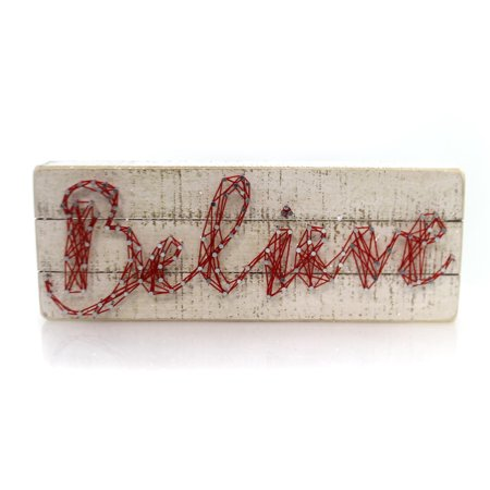 Christmas String Art (Christmas BELIEVE STRING ART BOX SIGN Wood Primitive)