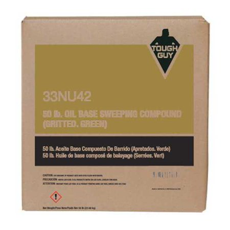 Grit Oil Base Sweeping Compound - TOUGH GUY 33NU42 Sweeping Compound Oil Based with Grit