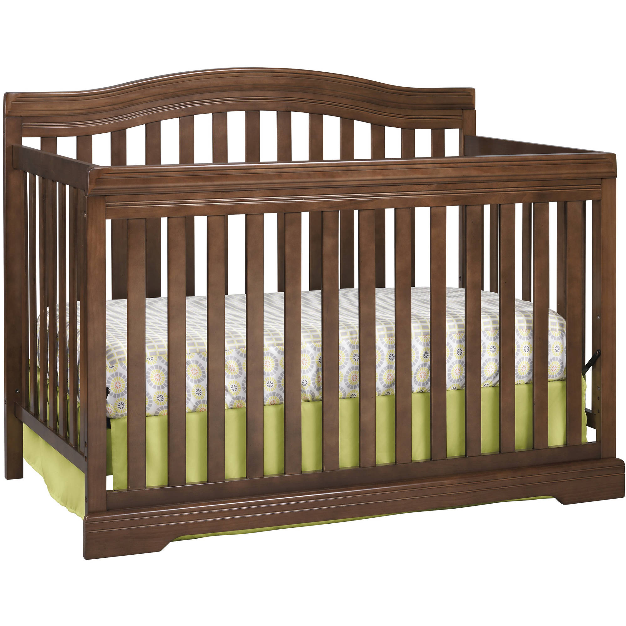 Broyhill Kids Bowen Heights 4-in-1 Convertible Fixed-Side Crib, Walnut