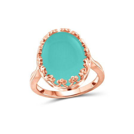 Chalcedony Gold Ring - 9-3/4 Carat T.G.W. Chalcedony Rose Gold over Silver Fashion Ring