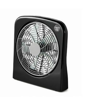 Mainstays 10`` Box Fan Black