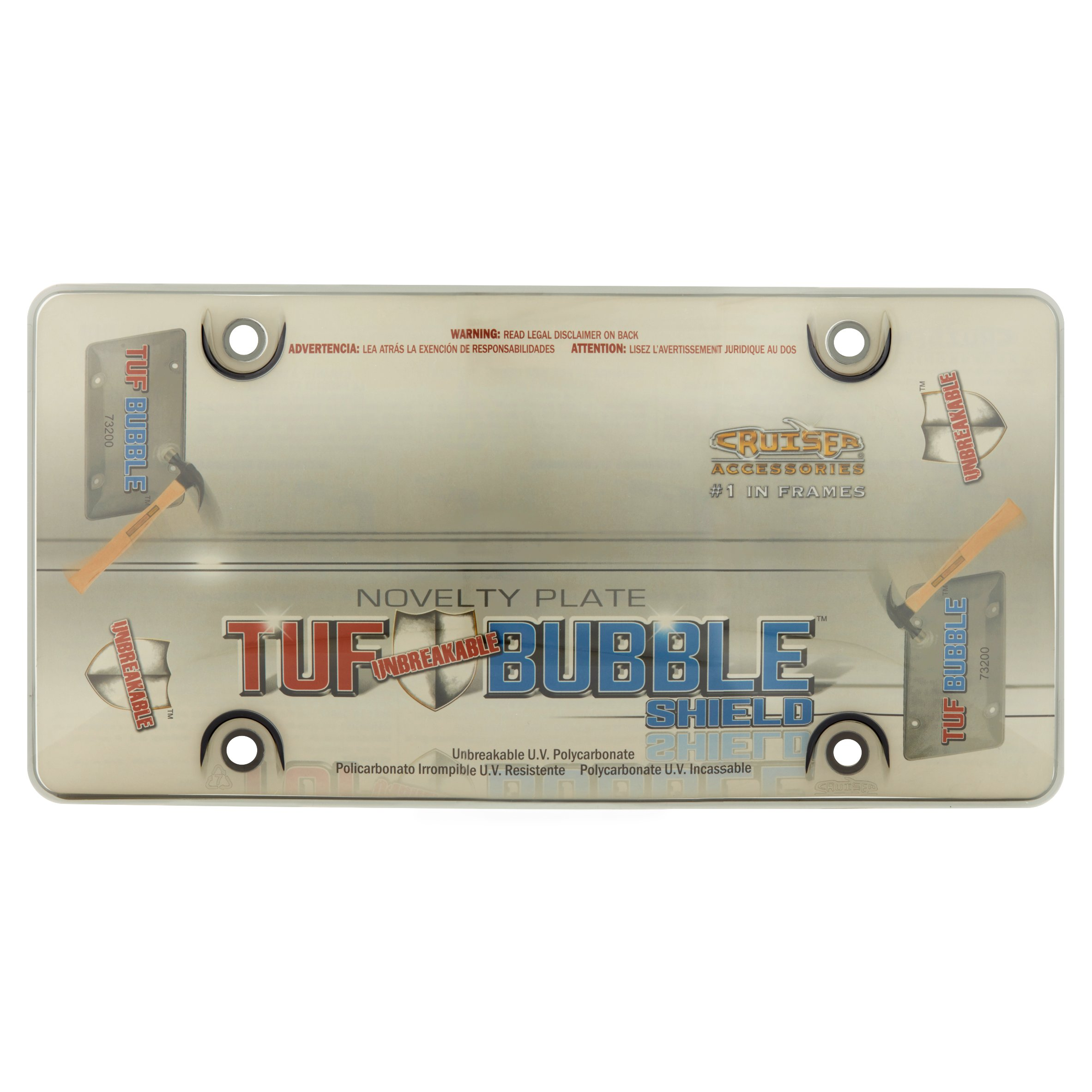 Cruiser Accesories Tuf Bubble Shield Smoke Novelty Plate