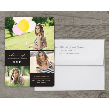 Elegant Grad Deluxe Graduation Announcement](Graduation Announcements 2017)