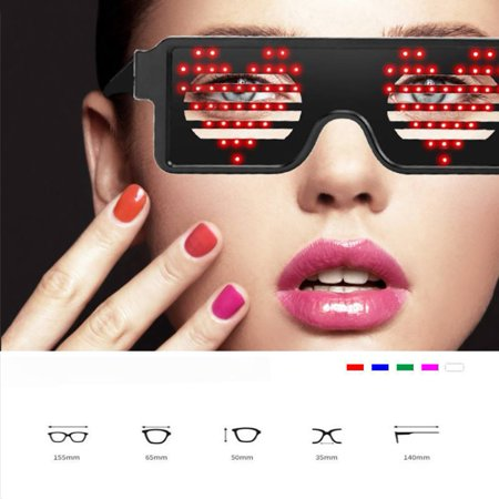 Glow In The Dark Sunglasses Bulk (LED Glow Glasses Light Up Clubbing Party Costume Sunglasses Eyewear 8)