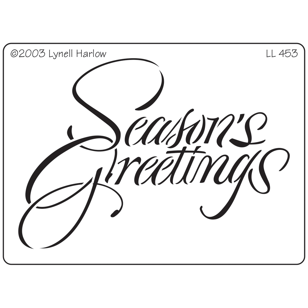 "Dreamweaver Metal Stencil 4""X6.875""-Script Seasons Greetings"