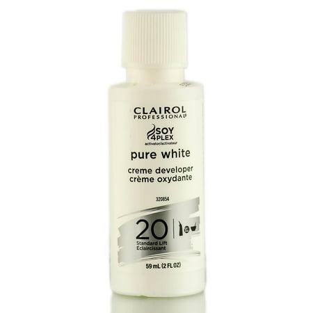 - Clairol Pure White Creme Developer - Standard Lift - Option : 20 Volume - 2 oz