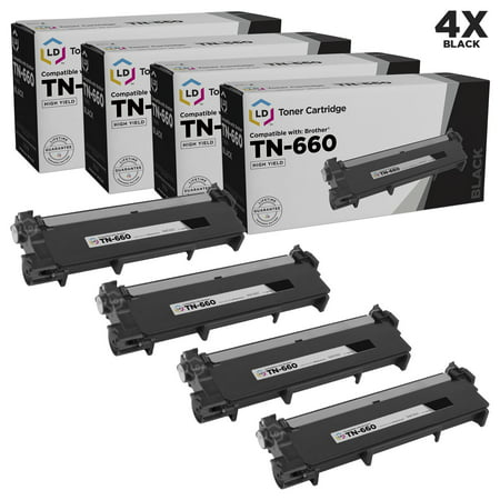 LD Compatible Replacement for Brother TN660 High Yield Black Toner Cartridge 4-Pack for DCP-L2520DW, DCP-L2540DW, HL-L2300D, HL-L2305W, HL-L2315DW, MFC-L2685DW, MFC-L2700DW, MFC-L2720DW, MFC-L2740DW -  LD Products